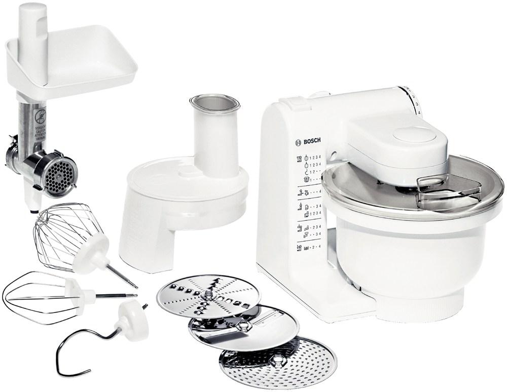 Кухонный комбайн Bosch MUM 4406Кухонные комбайны<br><br><br>Тип: Кухонный комбайн<br>Мощность, Вт: 500<br>Емкость чаши, л: 3.9<br>Соковыжималка: Нет<br>Максимальная скорость вращения, об./мин: 12000