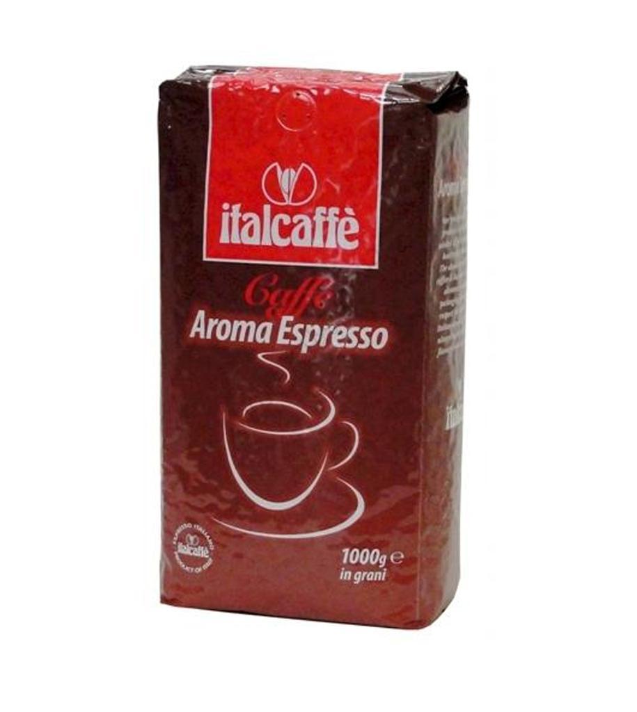 Кофе в зернах Italcaffe Aroma Espresso 1 кгКофе, какао<br>ItalCaffe Aroma Espresso - это замечательное сочетание робусты и арабики с насыщенным вкусом. Aroma Espresso обладает консистентным и обволакивающим ароматом, одержанным за счет тщательного отбора кофейных зерен, что позволит Вам насладиться настоящим итальянским эспрессо.Отлично подходит для для автоматических и профессиональных кофемашин.<br><br>Тип: кофе в зернах<br>Обжарка кофе: средняя<br>Дополнительно: содержание Арабики - 20%, Робуста - 80%.