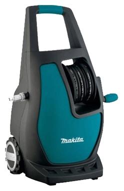 Мойка высокого давления Makita HW112Мойки высокого давления<br><br><br>Давление, Бар: 120<br>Производительность, л/час: 370<br>Потребляемая мощность: 1.6 кВт·ч<br>Насадки: щетка<br>Шланг ВД: способ хранения: катушка, длина 5.50 м