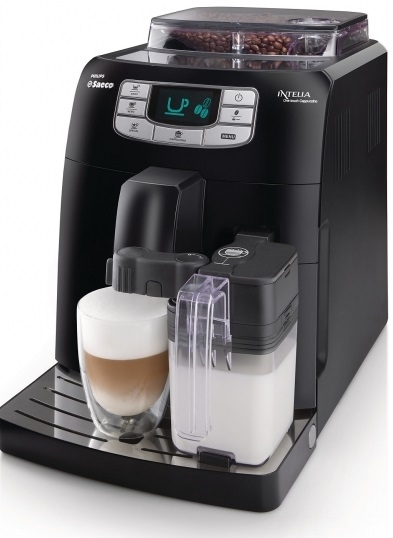 Кофемашина Saeco Intelia Cappuccino HD 8753/11Кофеварки и кофемашины<br>Какой бы вид кофе Вы не предпочитали: лунго, американо, капучино, латте - все начинается с качественного эспрессо, приготовленного из свежемолотых кофейных зерен. Кофеварка Saeco Intelia One Touch Cappuccino HD8753/11 оборудована встроенной кофемолкой с высококачественными жерновами, выполненными из керамики. Они в процессе работы не перегреваются и обеспечивают равномерный помол кофе для чистого вкуса готового напитка.<br><br>Тонизирующий напиток здесь готовится традиционным итальянским способом с предварительным смачиванием для полного раскрытия волшебного ...<br><br>Тип используемого кофе: Зерновой<br>Мощность, Вт: 1900<br>Объем, л: 1,5<br>Давление помпы, бар  : 15<br>Емкость контейнера для зерен, г  : 300