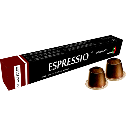 Кофе в капсулах Espressio PerfettoКофе и чай<br>В насыщенном вкусе Perfetto смешались первоклассные сорта бразильской и азиатской арабики. Благодаря этому напиток обладает стойким послевкусием и богатым ароматом. Перфетто означает «прекрасный, восхитительный, идеальный». «Удивительно совершенный вкус и аромат», – эти слова напрашиваются после глотка элитного напитка. Попробуйте также его разбавить небольшим количеством молока. Долгое послевкусие и приятные ощущения – вот характерные особенности бленда Перфетто.<br>
