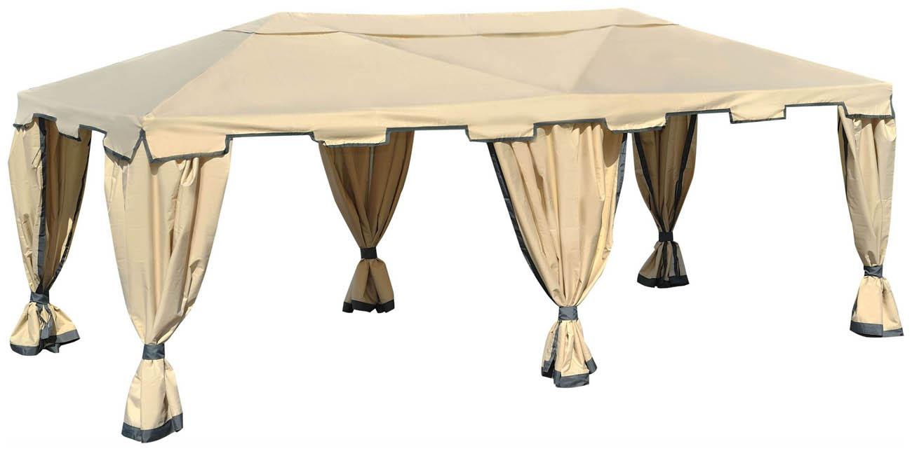 Садовый тент-шатер Green Glade 1048Садовые тенты и шатры<br>Тент 1048, это очень вместительный тент традиционной прямоугольной формы, который сможет создать пространство под любое мероприятие. Вы с легкостью разместите на его площади &amp;#40;18 кв.м.&amp;#41; мебель для комфортного размещения гостей от 18 до 25 человек. Такой шатер будет замечательно смотреться и в роли стационарной беседки на Вашем дачном участке.<br><br>Тент шатер Green Glade 1048 со всех сторон имеет плотные стенки, полностью закройте их, и Вы получите уютное помещение, скрытое от чужих любопытных глаз, закрытое от ветра и солнца. Тент 1048 укроет все вещи и Ваших...<br><br>Тип: Садовый тент-шатер<br>Покрытие: полиэстер 160 г с водоотталкивающей пропиткой<br>Каркас: металлическая трубка (19х19х25 мм)<br>Размеры упаковки: 118х25х28 см