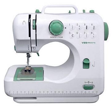 Швейная машина VES 505Швейные машины<br><br><br>Тип: электромеханическая<br>Вышивальный блок: нет<br>Количество швейных операций: 8<br>Выполнение петли: ручное<br>Потайная строчка : есть<br>Эластичная строчка : есть<br>Эластичная потайная строчка: есть<br>Кнопка реверса: есть<br>Отсек для аксессуаров : есть
