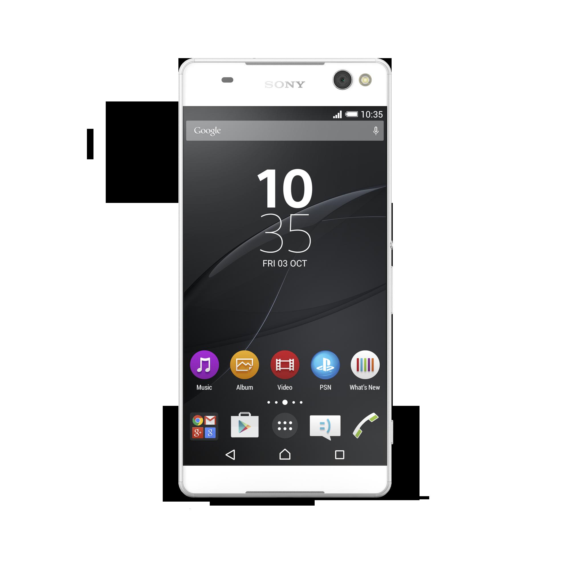Мобильный телефон Sony Xperia C5 Ultra Dual E5533 WhiteМобильные телефоны<br><br><br>Тип: Смартфон<br>Стандарт: GSM 900/1800/1900, 3G, 4G LTE, LTE-A<br>Поддержка диапазонов LTE: Bands 1, 3, 5, 7, 8, 20<br>Тип трубки: классический<br>Поддержка двух SIM-карт: есть<br>Операционная система: Android 5.0<br>Встроенная память: 16 Гб<br>Фотокамера: 13 млн пикс., светодиодная вспышка (фронтальная и тыльная)<br>Форматы проигрывателя: MP3<br>Разъем для наушников: 3.5 мм