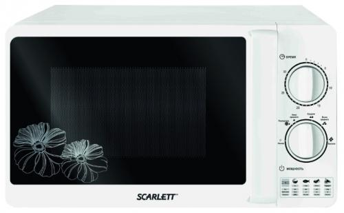 Микроволновая печь Scarlett SC-MW9020S01MМикроволновые печи<br>Микроволновую печь Scarlett SC-MW9020S01M можно выделить из общего ряда приятным дизайном, несложным управлением, а также доступной ценой. Ее камера объемом 20 литров покрыта изнутри биокерамической эмалью - она легко моемся, а также обладает антибактериальным эффектом. Мощность микроволнового излучения модели SC-MW9020S01M составляет 700 Вт - хороший показатель при общем потреблении в размере 1150 Вт. Scarlett SC-MW9020S01M проста в управлении - два поворотных регулятора позволят задать мощность излучения и время воздействия на продукт. В ней также присутствует режим ...<br><br>Объём, литров: 20<br>Тип: Микроволновая печь<br>Тип управления: Механическое<br>Переключатели: Поворотные