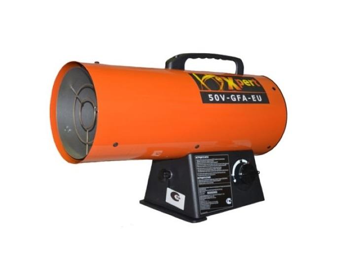 Тепловая пушка газовая Expert 50V-GFA-EUТепловые пушки и завесы<br><br><br>Тип: тепловая пушка газовая<br>Мощность обогрева, Вт: 50000<br>Площадь обогрева, кв.м: 116<br>Напряжение: 220 В<br>Максимальный расход топлива: 1,1 л/ч<br>Производительность: 867 м3/ч<br>Габариты: 40х20х33 см<br>Вес: 5 кг