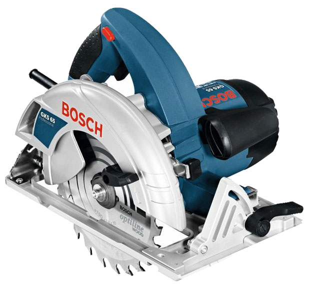Дисковая пила Bosch GKS 65 [0601667000]Пилы<br><br><br>Тип: дисковая<br>Конструкция: ручная<br>Мощность, Вт: 1600 Вт<br>Функции и возможности: блокировка шпинделя, подключение пылесоса