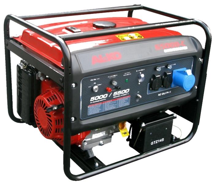 Электрогенератор AL-KO 6500-CЭлектрогенераторы<br><br><br>Тип электростанции: бензиновая<br>Тип запуска: ручной, электрический<br>Число фаз: 1 (220 вольт)<br>Объем двигателя: 389 куб.см<br>Мощность двигателя: 13 л.с.<br>Тип охлаждения: воздушное<br>Расход топлива: 1.8 л/ч<br>Объем бака: 25 л<br>Тип генератора: синхронный<br>Активная мощность, Вт: 5000