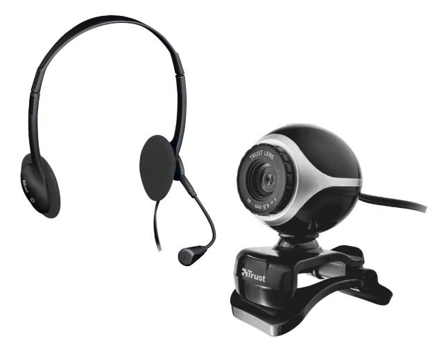 Веб камера Trust Exis Chatpack Black (17028)