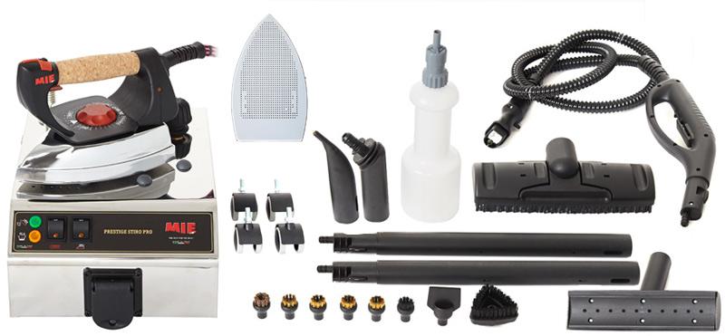 Пароочиститель MIE Stiro Pro LUXEУтюги и гладильные системы<br><br><br>Тип : Пароочиститель<br>Мощность, Вт: 1100<br>Объём резервуара для воды, мл: 1300