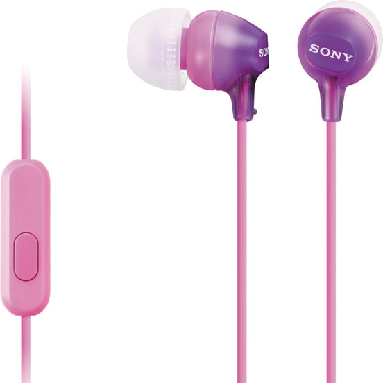 Гарнитура Sony MDR-EX15 AP PurpleНаушники и гарнитуры<br>Sony MDR-EX15 AP Purple для пользы и красоты.<br>Наушники Sony MDR-EX15 AP Purple фиолетового цвета не только очень красивы и необычны, но еще и очень полезны. Они созданы не только для вашей любимой музыки, но и для общения с друзьями и коллегами, ведь эти наушники выполняют функции гарнитуры!<br>Как они работают? Вы просто подключаете эти наушники к своему мобильному телефону или смартфону и начинаете общаться! Чувствительный микрофон и пульт дистанционного управления сделают общение еще комфортнее и удобнее. Самое главное, теперь вам не нужно вытаскивать телефон из...<br><br>Тип: гарнитура<br>Тип акустического оформления: Закрытые<br>Вид наушников: Вставные<br>Тип подключения: Проводные<br>Диапазон воспроизводимых частот, Гц: 8-22000<br>Сопротивление, Импеданс: 16 Ом<br>Чувствительность дБ: 100<br>Микрофон: есть