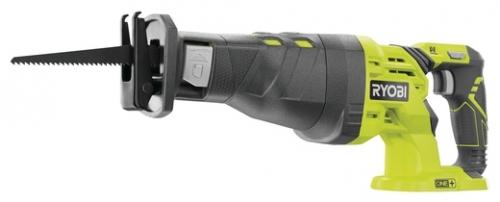 Сабельная пила Ryobi R18RS-0 (3002637)Пилы<br>Аккумуляторная сабельная пила Ryobi 3002637&amp;#40;R18RS-0&amp;#41; - предназанчена для распила различных материалов.<br><br>- Антивибрационная ручка Anti-Vibe™ и бесключевое крепление пильных полотен обеспечивают комфортную работу и контроль над инструментом;<br>- Регулируемая скорость позволяет позволяет выбрать оптимальный режим работы и произвести точное врезание в материал;<br>- Увеличенные вентиляционные отверстия для улучшения терморегуляции внутри пилы;<br>- Обрезиненная поверхность корпуса предохраняет редуктор от повреждений, также защищает руки от нагретого корпуса...<br><br>Тип: сабельная пила<br>Конструкция: ручная<br>Работа с металлом: есть<br>Функции и возможности: электронная защита двигателя, торможение двигателя, плавная регулировка скорости, антивибрация<br>Дополнительно: размер хода 28 мм. Число ходов в минуту 2900