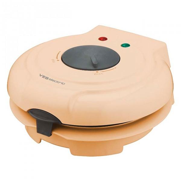 Вафельница VES SK A 8 YДомашние помощники<br><br><br>Тип: вафельница<br>Мощность, Вт.: 750<br>Комплектация: пластиковый конус-формовка