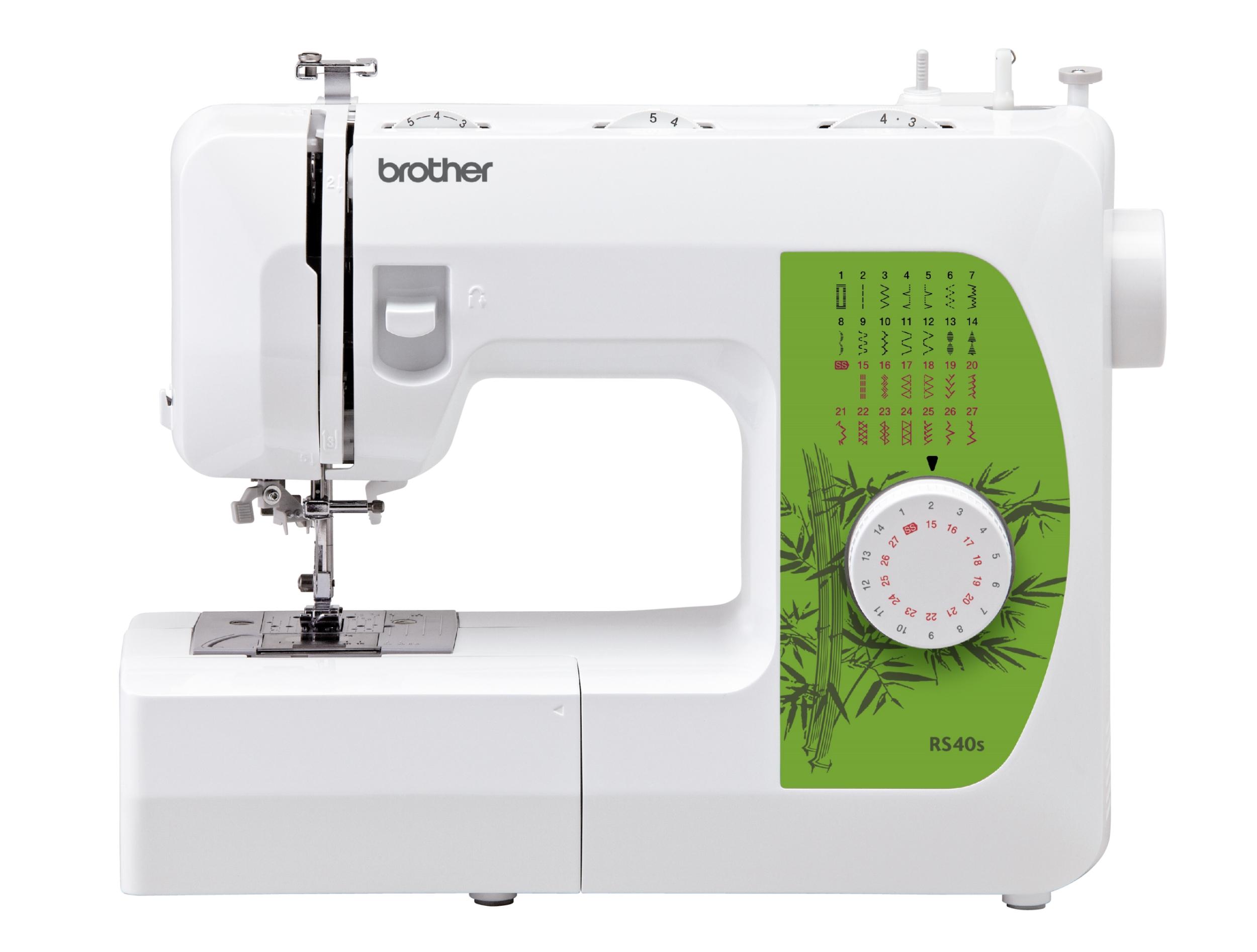 Швейная машина Brother RS-40SШвейные машины<br><br><br>Тип: электромеханическая<br>Тип челнока: ротационный горизонтальный<br>Количество швейных операций: 27<br>Выполнение петли: автомат