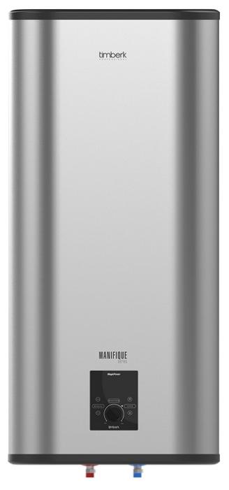 Водонагреватель Timberk SWH FSM5 100 VВодонагреватели<br>SWH FSM5 100 V является водонагревателем – самым оптимальным решением в качестве дополнительного, и основного источников для осуществления горячего водоснабжения. Такое устройство может использоваться для обеспечения подогретой водой как одной точки, так и нескольких. Накопительный водонагреватель установить значительно чаще, чем проточный, потому что он более экономичен и обеспечивает более комфортный, а также легко регулируемый поток нагретой воды.<br><br>Представленная модель обеспечена: <br>- Микропроцессорной панелью управления Magic Power.<br>- Технологией...<br><br>Тип водонагревателя: накопительный<br>Способ нагрева: электрический<br>Объем емкости для воды, л.: 100<br>Максимальная температура нагрева воды (°С): +75<br>Номинальная мощность(кВт): 2<br>Управление: электронное
