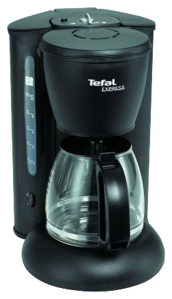 Кофеварка Tefal CM 4105Кофеварки и кофемашины<br><br><br>Тип : капельная кофеварка<br>Тип используемого кофе: Молотый<br>Мощность, Вт: 1200<br>Объем, л: 1.25 л<br>Фильтр  : Постоянный /Одноразовый<br>Материал корпуса  : Пластик