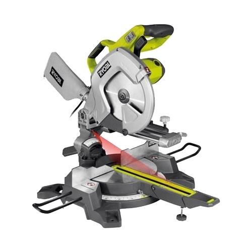 Торцовочная пила Ryobi EMS254L (3001202)Пилы<br>Торцовочная пила Ryobi EMS254L 3001202 предназначена для прямой и поперечной распиловки заготовок из древесины. Модель удобна и безопасна в использовании благодаря наличию двух защитных кожухов. Нижний кожух самостоятельно убирается по мере опускания пильного диска к заготовке, что весьма удобно. Подсветка рабочей зоны и лазерный указатель способствуют максимально точному пилению по размерам. Модель очень удобна и надежна в эксплуатации, отлично подходит для постоянного использования.<br><br>- Подсветка рабочей зоны для возможности работы в условиях ...<br><br>Тип: торцовочная<br>Конструкция: настольная<br>Мощность, Вт: 2000<br>Функции и возможности: подсветка, лазерный маркер, подключение пылесоса, пылесборник