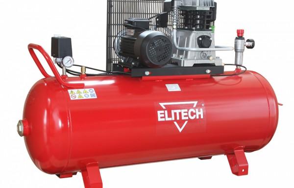Компрессор Elitech КР 50/АВ360/2.2Воздушные компрессоры<br>Предназначен для работы с пневмоинструментами, для использования в качестве насоса и в тех местах, где необходим сжатый воздух. Оснащение: чугунный поршневый блок Fiac, визуальный контроль давления в ресивере и на выход &amp;#40;манометры&amp;#41;, регулировка давления на выход, визуальный контроль масла в компрессоре &amp;#40;смотровое окно&amp;#41;, электромеханический блок управления давлением в ресивере, предохранительный механический клапан высокого давления, дренажный клапан для слива конденсата, быстросъемный разъем подключения инструмента, удобная руко...<br><br>Тип компрессора: с ресивером<br>Максимальное давление : 10 Бар<br>Тип двигателя: электрический