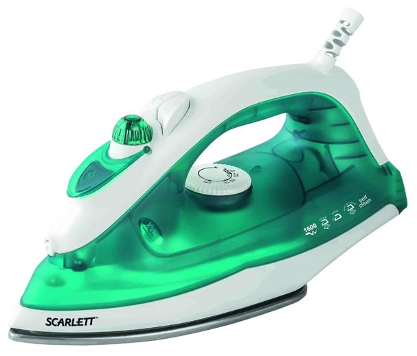 Утюг Scarlett SC-SI30S01Утюги и гладильные системы<br>- Сухое глажение<br>- Разбрызгивание<br>- Функция Отпаривание с возможностью регулировки степени отпаривания<br>- Терморегулятор<br>- Функция самоочистки<br>- Рабочая поверхность <br>- Резервуар для воды 220 мл<br>- Регулируемый пар до 20 г/мин<br>- Паровой удар<br>- Вертикальное отпаривание<br>- Световой индикатор нагрева<br>- Стаканчик для наполнения водой<br>- Защитный чехол на рабочей поверхности<br><br>Тип : Утюг<br>Мощность, Вт: 1600<br>Постоянная подача пара: Есть<br>Скорость постоянной подачи пара, г/мин: 20<br>Вертикальное отпаривание: Есть<br>Функция разбрызгивания: Есть<br>Система самоочистки: Есть<br>Противокапельная система: Нет<br>Объём резервуара для воды, мл: 220<br>Шаровое крепление шнура: Есть