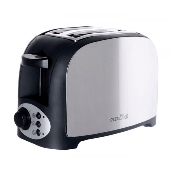 Тостер Smile TA 1841Тостеры и минипечи<br><br><br>Тип: тостер<br>Мощность, Вт.: 750<br>Тип управления: Механическое<br>Количество отделений: 2<br>Количество тостов: 2