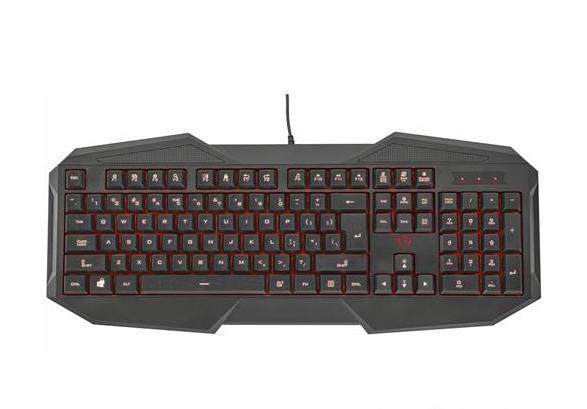 Клавиатура Trust GXT 830 Gaming Keyboard RU (21464)Клавиатуры<br>Полноразмерная клавиатура. Три варианта подсветки с регулируемой яркостью. Технология Anti-Ghosting: возможность одновременного нажатия до 6 клавиш. 12 клавиш прямого доступа для управления медиафункциями. Переключатель игрового режима; отключение клавиши Windows .<br>