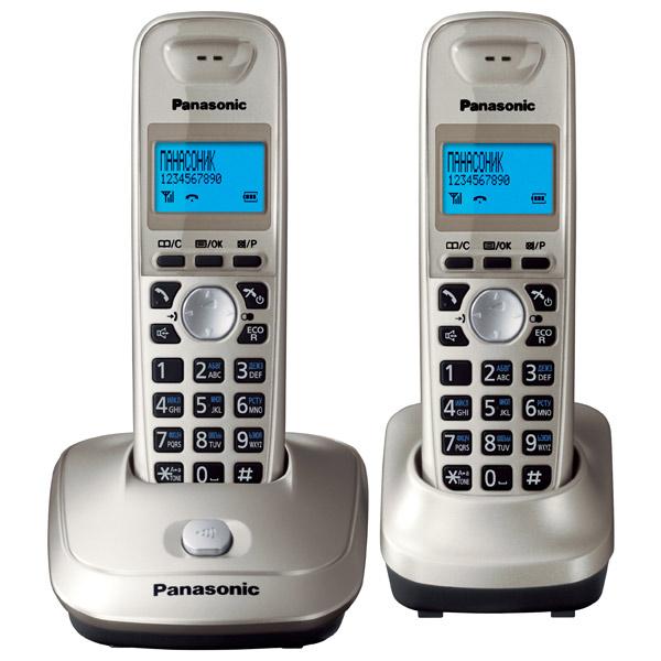 Радиотелефон Panasonic KX-TG2512RUNРадиотелефон Dect<br>Радиотелефон Panasonic KX-TG2512RUN стильного платинового цвета— просто находка для тех, важна функциональность аппарата, его надежность, а также безупречный внешний вид. В комплект входят две трубки, одна из которых находится на базе-станции телефона. Эта модель обладает всем необходимым функционалом современного радиотелефона: внутренняя связь &amp;#40;интерком&amp;#41;, конференц-связь, спикерфон, встроенная телефонная книга, автоматический определитель номера. Особенно удобна возможность перехода в «эко-режим» всего одним нажатием кнопки. Этот радиотел...<br><br>Тип: Радиотелефон<br>Количество трубок: 2<br>Рабочая частота: 1880-1900 МГц<br>Стандарт: DECT/GAP<br>Радиус действия в помещении / на открытой местност: 50 / 300<br>Время работы трубки (режим разг. / режим ожид.): 18/170<br>Полифонические мелодии: 10<br>Дисплей: Есть<br>Возможность настенного крепления: Есть<br>Журнал номеров: 50