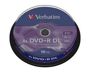 Диск Verbatim DVD+R 8.5GB Dual Layer (10шт./кейкбокс)