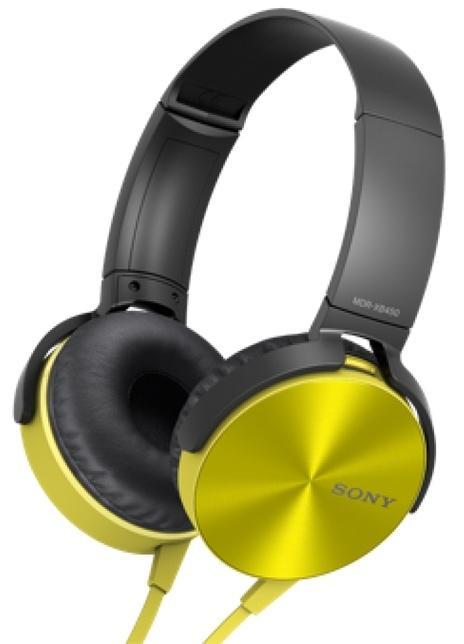 Наушники Sony MDR-XB450AP YellowНаушники и гарнитуры<br><br><br>Тип: наушники<br>Тип акустического оформления: Закрытые<br>Вид наушников: Накладные<br>Тип подключения: Проводные<br>Диапазон воспроизводимых частот, Гц: 5 - 22000 Гц<br>Сопротивление, Импеданс: 24 Ом<br>Чувствительность дБ: 102 дБ