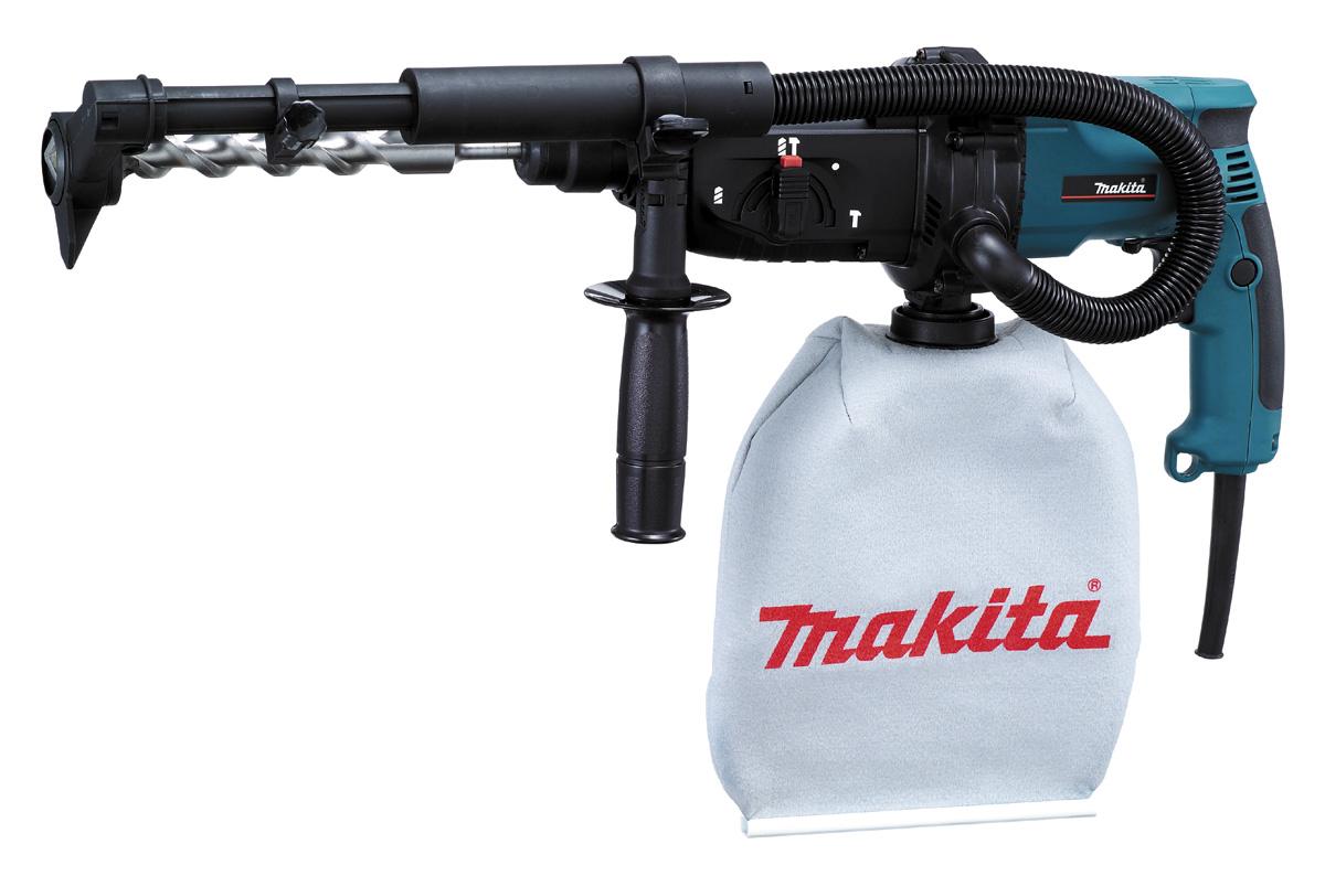 Перфоратор Makita HR2432Перфораторы<br><br><br>Тип крепления бура: SDS-Plus<br>Количество скоростей работы: 1<br>Потребляемая мощность: 780 Вт<br>Макс. энергия удара: 2.2 Дж<br>Макс. диаметр сверления (дерево): 32 мм<br>Макс. диаметр сверления (металл): 13 мм<br>Макс. диаметр сверления (бетон): 24 мм<br>Питание: от сети<br>Шуруповерт: есть<br>Возможности: реверс, предохранительная муфта, электронная регулировка частоты вращения
