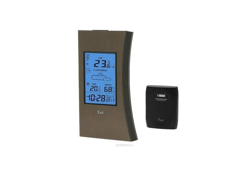 Погодная станция Ea2 ED603Погодные станции<br><br><br>Тип: погодная станция<br>Измерение температуры: в помещении и на улице<br>Диапазон измерений температуры внутри помещения: от -0°C до +50°C<br>Диапазон измерения влажности: от 20% до 99%