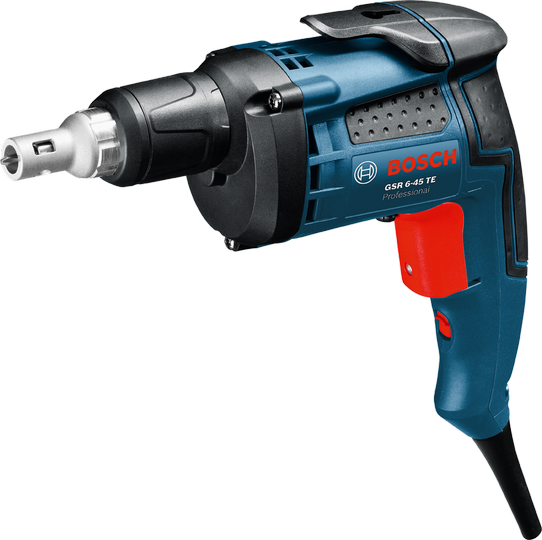 Шуруповерт Bosch GSR 6-45 TE Case [0601445100]Дрели, шуруповерты, гайковерты<br>- Значительный запас мощности благодаря двигателю высокой мощности &amp;#40;701 Вт&amp;#41;<br>- Широкий электронный выключатель с фиксирующей кнопкой для режима непрерывной работы<br>- Реверс<br>- Практичный зажим для ношения инструмента на ремне<br>- Стандартный патрон для зажима обычных рабочих инструментов 1/4<br>- Может использоваться с магазинной насадкой MA 55<br><br>Тип: шуруповерт<br>Тип инструмента: безударный<br>Тип патрона: под биты<br>Количество скоростей работы: 1<br>Питание: от сети<br>Возможности: реверс, электронная регулировка частоты вращения<br>Кейс в комплекте: есть