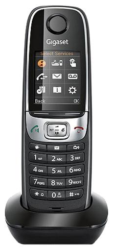 Дополнительная трубка Gigaset C620H Shiny BlackРадиотелефон Dect<br><br><br>Тип: Дополнительная радиотрубка<br>Количество трубок: 1<br>Стандарт: DECT/GAP<br>Радиус действия в помещении / на открытой местност: 50 / 300<br>Время работы трубки (режим разг. / режим ожид.): 26 / 530<br>Дисплей: есть