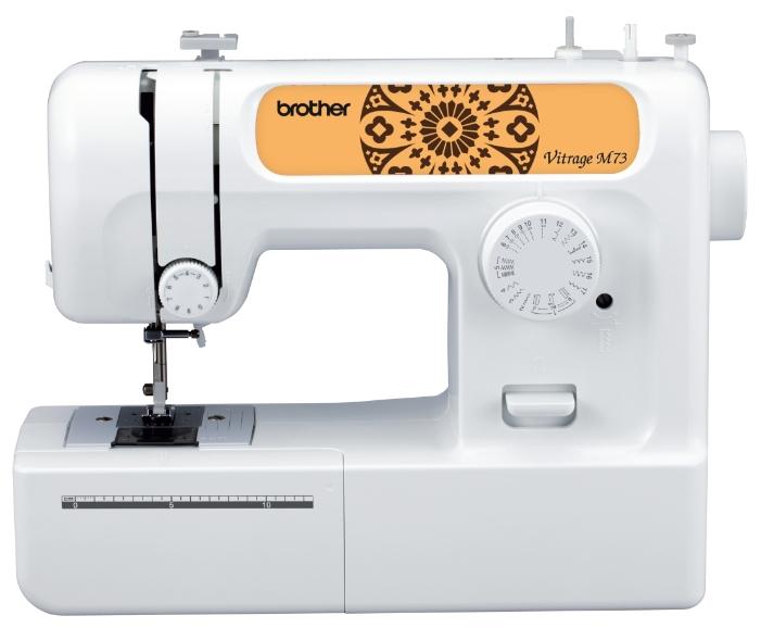 Швейная машина Brother Vitrage M73Швейные машины<br>Швейная машина Brother Vitrage M73 имеет 17 различных швейных операций и прекрасно подходит для работы со средними и легкими тканями. У швейной машины горизонтальный челнок, который не нуждается в частом смазывании, работает плавно и тихо и очень прост в заправке.<br><br>Швейная машина Brother Vitrage M73 имеет пластиковый корпус, а так же обладает функцией остановки шпульки при намотке, которая автоматически останавливает работу машинки тогда, когда шпулька наматывается полностью.<br><br>Благодаря естественному освещению LED подстветки вы можете работать за швейной машиной...<br><br>Тип: электромеханическая<br>Тип челнока: ротационный горизонтальный<br>Вышивальный блок: нет<br>Количество швейных операций: 17<br>Выполнение петли: полуавтомат<br>Максимальная длина стежка: 4.0 мм<br>Максимальная ширина стежка: 5.0 мм<br>Потайная строчка : есть<br>Кнопка реверса: есть<br>Рукавная платформа: есть