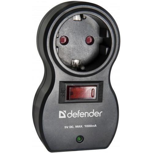 Сетевой фильтр DEFENDER Voyage 100Сетевые фильтры<br>Сетевой фильтр Voyage 100 защищает электронную технику от перегрузок по току, короткого замыкания и импульсных помех.<br><br>Два USB-порта для удобной зарядки MP3-плееров и других гаджетов без использования ПК. Токовая защита надежно защищает подключенные устройства от возможных бросков тока и выхода из строя в момент зарядки.<br>Защитные шторки от детей. Сетевой фильтр безопасно использовать в квартире с маленькими детьми.<br>Корпус сделан из негорючего пластика.<br>Индикатор подключения к сети.<br>Автоматический предохранитель встроенный в выключатель<br><br>Номинальное напряжение, В/Гц: 220 В / 50-60<br>Максимальная суммарная мощность нагрузки, Вт:: 2200<br>Максимальный ток нагрузки, А: 10<br>Индикатор состояния защиты:: есть<br>Защита от перегрузки и короткого замыкания: Автоматический несгораемый предохранитель встроенный в выключатель