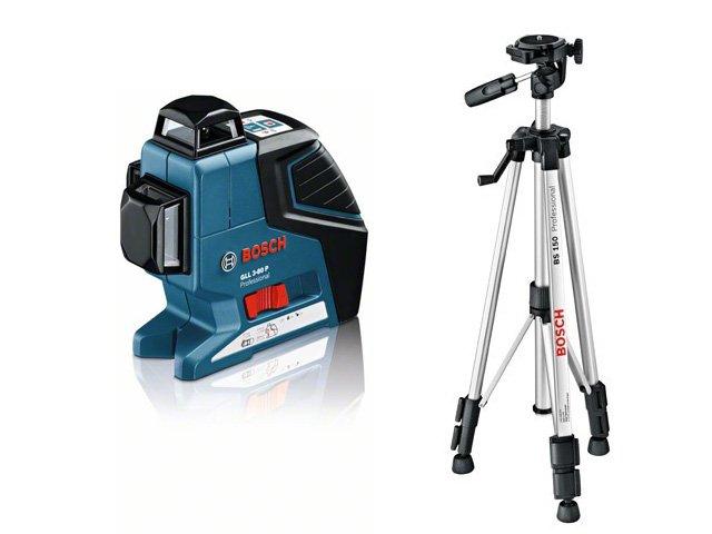 Лазерный нивелир Bosch GLL 3-80 P + BS 150 + вкладка под L-Boxx [0601063306]Измерительные инструменты<br>- Безграничные возможности применения: одна горизонтальная и две вертикальных линии в диапазоне 360° обеспечивают разнообразное применение этого инструмента, например для выполнения одновременной маркировки, выравнивания и нивелирования внутри помещений<br>- Самонивелирующийся &amp;#40;4° за 4 с&amp;#41;, высокоточный &amp;#40;± 0,2 мм/м&amp;#41; инструмент с дальностью действия в комплекте с приемником до 80 м<br>- Компактный, удобный в использовании и исключительно надежный &amp;#40;IP 54&amp;#41;<br>