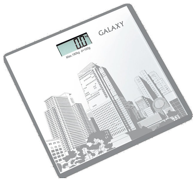 Весы Galaxy GL 4803Весы<br>Электронные весы Galaxy разработаны специально для тех, кто следит за своим здоровьем и физической формой. Стильный дизайн, ультратонкий корпус, большой дисплей - все это электронные весы Galaxy GL4803.<br><br>Тип: напольные весы<br>Тип весов: электронные<br>Предел взвешивания, кг: 180<br>Точность измерения, г: 100
