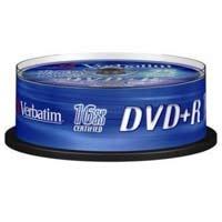 Диск Verbatim DVD+R 4,7Gb 16x (кейкбокс) (25шт)Диски CD/DVD<br><br><br>Тип: DVD+R<br>Объем : 4,7 ГБ<br>Скорость записи: 16x