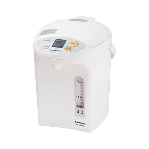 Термопот Panasonic NC-EG3000WTSЧайники и термопоты<br>Электрический термопот Panasonic NC-EG3000WTS представляет собой современный прибор, имеющий хорошую функциональность и не вызывающий сложностей в процессе эксплуатации. В нем предусмотрено наличие 3 л резервуара для воды, с антипригарным внутренним покрытием из древесного угля в сочетании с фторовым покрытием Diamond. В процессе эксплуатации такого термопота, Вы сможете воспользоваться 4 температурными режимами (98, 90, 80 и 70 градусов), а также энергосберегающим таймером на 6 часов. Не менее порадует в нем возможность вращения на подставке на 360 градусов...<br><br>Тип   : Термопот<br>Объем, л  : 3<br>Мощность, Вт  : 700<br>Тип нагревательного элемента: Закрытая спираль<br>Материал корпуса  : пластик<br>Терморегулятор  : Есть<br>Тип терморегулятора  : Ступенчатый<br>Количество температурных режимов  : 4<br>Минимальная температура нагрева, градусов  : 70<br>Таймер  : Есть