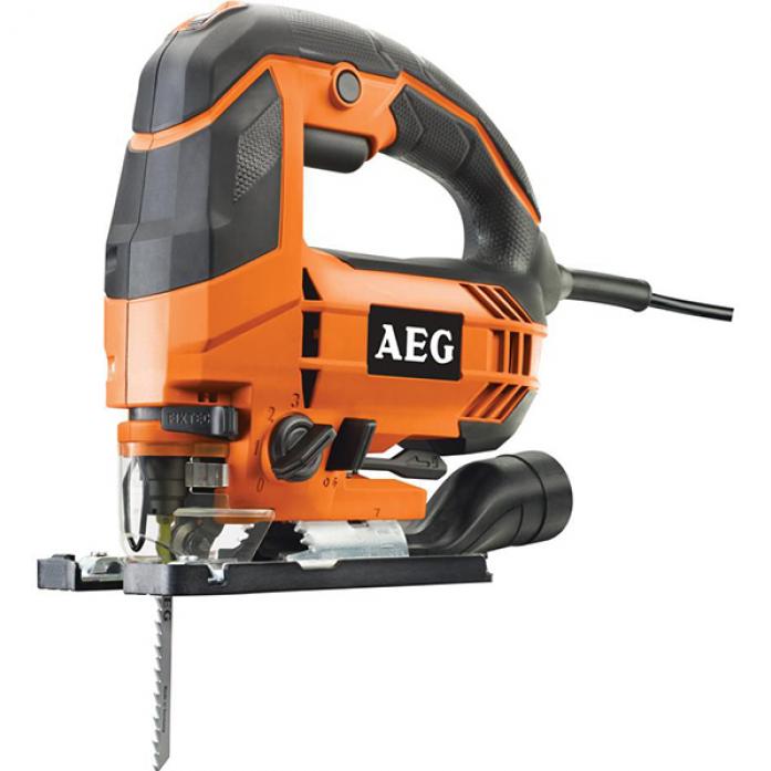 Лобзик AEG 451000 STEP 100XЛобзики электрические<br>Лобзик AEG STEP 100X 451000 снабжен двигателем мощностью 700 Вт. Он используется для распиливания дерева, металла, пластика, резины при отделочных или ремонтных работах. Удобная скобовидная рукоятка обеспечивает надежный захват инструмента во время работы. У модели предусмотрен патрубок для подключения пылесоса, что способствует сохранению чистоты рабочего места. Кейс удобен при хранении и транспортировке инструмента.<br><br>Потребляемая мощность: 600 Вт<br>Частота движения пилки: 1000 - 3200 ходов/мин<br>Длина хода: 19 мм<br>Глубина пропила дерева: 100 мм<br>Глубина пропила алюминия: 15 мм<br>Глубина пропила стали: 8 мм<br>Рукоятка: скобовидная, обрезиненная<br>Работа от аккумулятора: нет