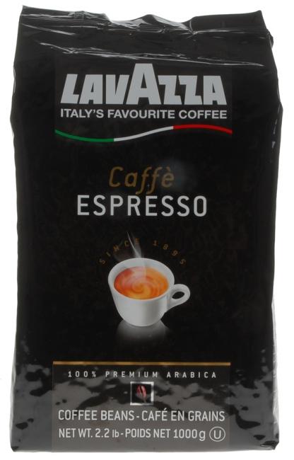 Кофе в зернах Lavazza Espresso 1000 гКофе, какао<br>Кофе Lavazza Espresso - изысканная смесь из 100% арабики, собранной на плантациях Центральной Америки и Африки. Медленная средняя обжарка кофейных зерен придает бленду насыщенность вкуса и легкую характерную горчинку. Смесь отличается восхитительным и волнующим ароматом. Экономичная вакуумная упаковка объемом 1 кг обеспечивает сохранность вкусовых качеств итальянского кофе Лавацца Эспрессо.<br><br>Тип: кофе в зернах<br>Обжарка кофе: средняя<br>Кофеин: С кофеином<br>Состав: 100% Арабика<br>Дополнительно: 100% Арабика