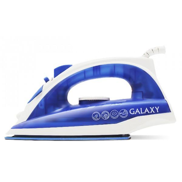 Утюг Galaxy GL 6121 BlueУтюги и гладильные системы<br>Ультрагладкие подошвы утюгов Galaxy из нержавеющей стали, с керамическим или эмалевым покрытием обеспечивают идеальное скольжение.<br><br>Тип : Утюг<br>Мощность, Вт: 1600<br>Постоянная подача пара: Есть<br>Паровой удар, г/мин: 120<br>Материал подошвы: Керамика<br>Вертикальное отпаривание: Есть<br>Функция разбрызгивания: Есть<br>Объём резервуара для воды, мл: 150<br>Длина сетевого шнура, м: 2<br>Шаровое крепление шнура: Есть