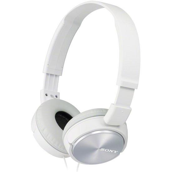 Наушники Sony MDR-ZX310/W WhiteНаушники и гарнитуры<br>Sony MDR-ZX310/W White: современность и изысканность.<br>Наушники Sony всегда отличались и отличаются современным и, при этом, изысканным дизайном. Вот и наушники Sony MDR-ZX310/W White — прямое тому подтверждение. Белый цвет, простые формы, серебристые вставки на чашках: казалось бы, чистый минимализм, но как продумана каждая деталь!<br>Все для того, чтобы вам было одновременно и приятно, и комфортно слушать любимую музыку. Наденьте такие наушники и сразу же забудьте о них, ведь они почти не ощущаются на голове! Вас окружает лишь музыка, причем, музыка отличного качества....<br><br>Тип: наушники<br>Тип акустического оформления: Закрытые<br>Вид наушников: Накладные<br>Тип подключения: Проводные<br>Диапазон воспроизводимых частот, Гц: 10–24 000<br>Сопротивление, Импеданс: 24 Ом<br>Чувствительность дБ: 98