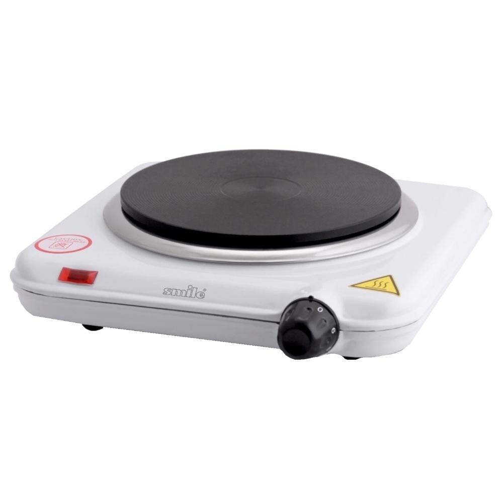 Кухонная плита Smile SEP-9006Кухонные плиты<br>Компактная настольная электрическая плитка Smile SEP 9006 оснащена одной мощной конфоркой для быстрого разогрева и приготовления различных блюд. Прибор имеет плавную регулировку температуры и световую индикацию включения, а благодаря компактным размерам станет незаменимым помощником на даче или небольшой кухне.<br><br>Тип варочной панели: электрическая<br>Тип духовки: нет<br>Ширина, см: 26<br>Рабочая поверхность : эмаль<br>Число электрических конфорок: 1<br>Гриль: нет<br>Высота, см: 7<br>Глубина, см: 26