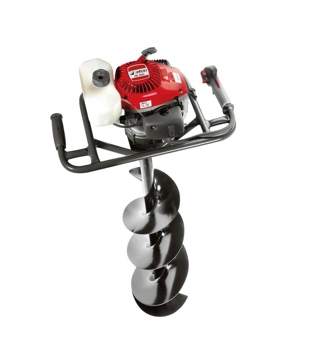 Мотобур EFCO TR-1551Мотобуры<br>Мотобур Efco TR 1551 - предлагаем вашему вниманию мотобур итальянского производства. Данный инструмент станет отличным помощником при выполнении, как бытовых заданий, так и более профессиональных и продолжительных операций. Предназначен для выполнения вертикальных отверстий в почве под установку столбов для освещения или огорожи. Достаточно мощный двухтактный мотор &amp;#40;2,1 л.с.&amp;#41;, обеспечит быструю и качественную работу инструмента даже при продолжительных нагрузках. А хромированное покрытие цилиндра обеспечит лучшее охлаждение инструмента...<br><br>Тип: мотобур<br>Мощность двигателя, Вт: 1600<br>Объем двигателя, см3: 50,2