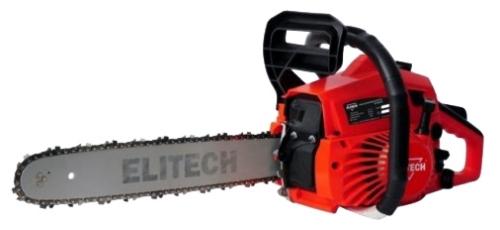Бензопила Elitech БП 38/16Пилы<br>ELITECH БП 38/16 - предназначена для распиловки древесины или изделий из древесины. С помощью бензопилы выполняют валку деревьев, заготовку дров, подрезку кустарников, распиловку пиломатериалов и др. Работа с бензопилой должна производиться на открытом воздухе.<br><br>- электронная система зажигания <br>- антивибрационная система <br>- регулировка подачи смазки цепи <br>- цепеуловитель <br>- бесключевой доступ к воздушному фильтру<br><br>Комплектация:<br>- Пила<br>- Шина<br>- Цепь<br>- Чехол шины<br>- Зубчатый упор с крепежом<br>- Канистра мерная<br>- Набор инструментов<br>- Руководство по эксплуатации...<br><br>Тип: бензопила<br>Конструкция: ручная<br>Мощность, Вт: 1300<br>Объем двигателя: 38 куб. см<br>Функции и возможности: антивибрация, тормоз цепи
