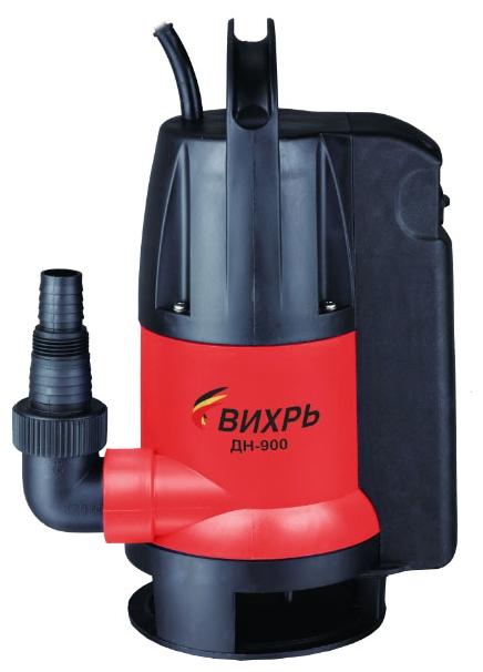 Насос Вихрь ДН-900Насосы<br><br><br>Глубина погружения: 8 м<br>Пропускная способность: 15.5 куб. м/час<br>Напряжение сети: 220/230 В<br>Потребляемая мощность: 900 Вт<br>Качество воды: грязная<br>Размер фильтруемых частиц: 35 мм<br>Установка насоса: вертикальная