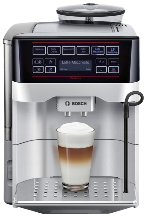 Кофемашина Bosch TES 60321 RWКофеварки и кофемашины<br><br><br>Тип : зерновая кофемашина<br>Тип используемого кофе: Зерновой\Молотый<br>Мощность, Вт: 1500<br>Объем, л: 1.7<br>Давление помпы, бар  : 15<br>Встроенная кофемолка: Есть<br>Емкость контейнера для зерен, г  : 300<br>Контейнер для отходов  : Есть<br>Съемный лоток для сбора капель  : Есть