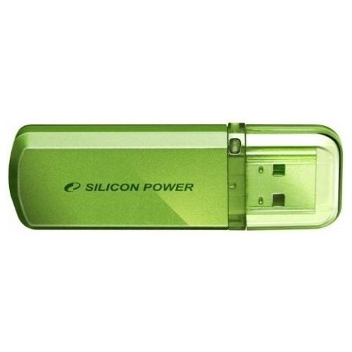 Флеш накопитель Silicon Power Helios 101 16 GB Green / SP016GBUF2101V1NFlash накопители<br>Доступный в яблочно-зеленом цвете новый Helios 101 имеет алюминиевый корпус с матовым покрытием. Helios 101отражает футуристический, стильный и простой дизайн. Он тонок, легок и подходит для пользователей, следящих за модой! Helios 101 может быть прикреплен к брелоку с ключами и использоваться как аксессуар. Обладающий функцией Plug&amp;Pl;ау Helios 101 — идеальный компаньон для мобильного ПК!<br><br>Стильный алюминиевый корпус с матовой поверхностью, защищенной от царапин и отпечатков пальцев.<br>Plug &amp; Play, не требуются внешние источники питания.<br>Установка драйвера не требуется,...<br><br>Объем памяти: 16 Гб<br>Интерфейс: USB 2.0<br>Материал корпуса: Металл