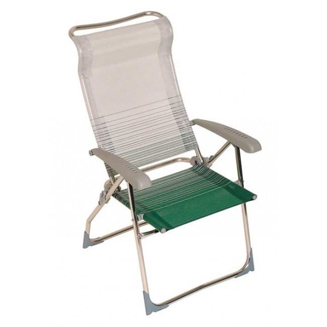 Кресло Green Glade BLUES GreenПоходная мебель<br>Складное кресло Blues Green Glade будет вам долго служить верой и правдой.<br>Кресло Blues обладает небольшим весом и компактными размерами, что позволяет его быстро достать или убрать.<br>Оно выполнено из всепогодных материалов и неприхотливо в быту.<br><br>Подробное описание:<br>- 8 положений спинки.<br>- Высота сидения 43 см.<br>- Высота спинки 76 см.<br>- Размер в сложенном состоянии &amp;#40;ДхВхШ&amp;#41; 108 х 10 х 60 см.<br><br>Тип: кресло<br>Каркас: алюминий<br>Max вес пользователя: 100 кг