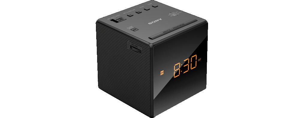 Радиобудильник Sony ICF-C1/B BlackРадиобудильники, приёмники и часы<br>Монофонический радиоприемник с функцией будильника<br> <br>Функциональные особенности:<br> <br>Функция snooze с возможностью увеличения интервала<br> <br>Прием в диапазоне 87,5-108,0 МГц (FM) и 531&amp;ndash;1602 кГц (AM)<br> <br>Светодиодный дисплей с показом времени и даты<br> <br>Резервный аккумулятор на батарее типа CR2032<br><br>Тип: Радиобудильник<br>Тип тюнера: Аналоговый<br>Диапозон частот: FM, СВ<br>Часы: Есть<br>Встроенный будильник  : Есть